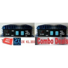 2X RM Italy KL 203 Mobile  Linear Amplifier (20-30 mhz) - Como Deal!