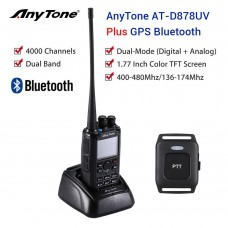 AnyTone AT-D878UV PLUS Bluetooth W/GPS and Programming Kit